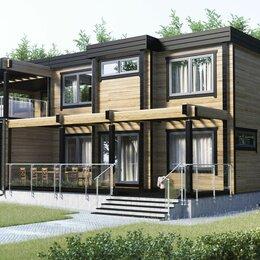 Готовые строения - Дом из клееного бруса с плоской кровлей, 0