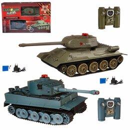 Радиоуправляемые игрушки - Танковый бой на радиоуправлении т-34 и тигр, 0