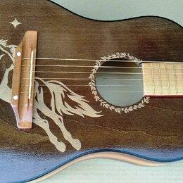 Акустические и классические гитары - Акустические гитары с пирографией, 0
