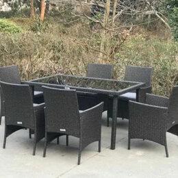 Комплекты садовой мебели - Садовая мебель из ротанга 6+1 Уличная мебель для сада и дома, 0