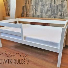Кроватки - Детская кроватка новая с бортиками, 0
