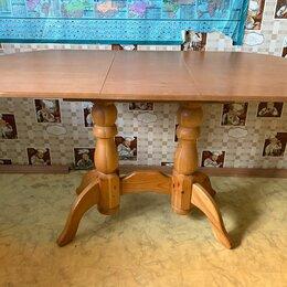 Столы и столики - Стол обеденный овальный деревянный размер 700-1400 мм, 0