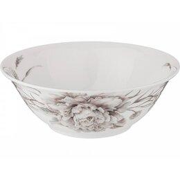 Блюда, салатники и соусники - Салатник-тарелка суповая Lefard White flower 18см белый,фарфор, 0
