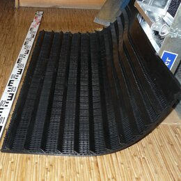 Сопутствующие товары - Дражный коврик резиновый 600х1000 мм. с рифлями, 0