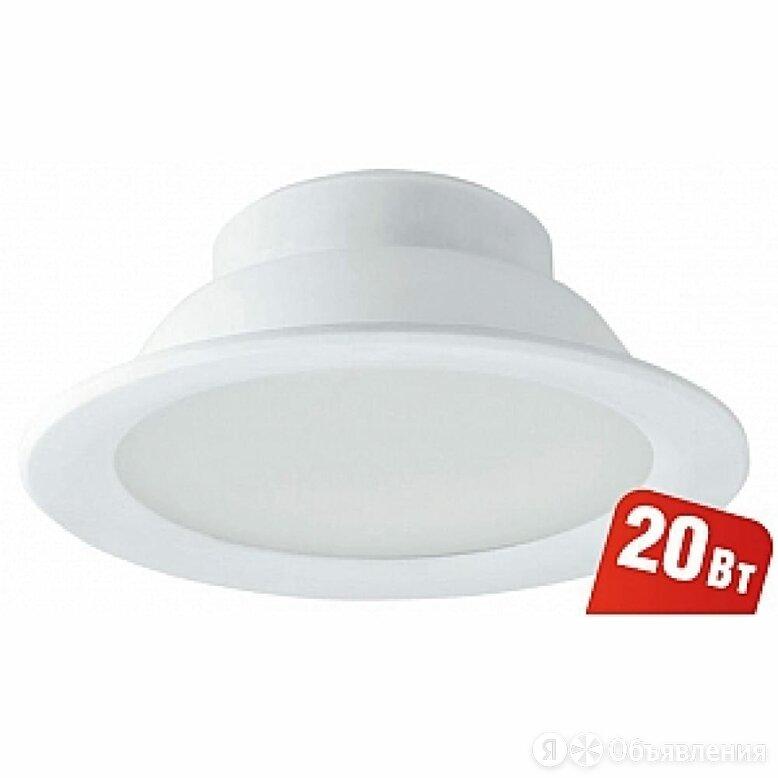Точечный светильник Navigator 94 837 NDL-P1-20W-840-WH-LED по цене 1256₽ - Встраиваемые светильники, фото 0