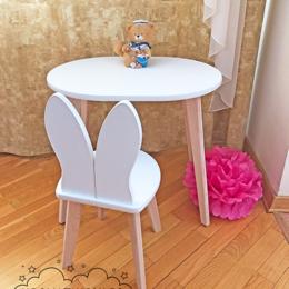 Столы и столики - Комплект - детский стульчик Зайка и столик, 0