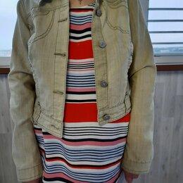 Жакеты - Джинсовая куртка со стразами, 0