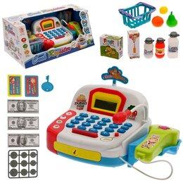 Торговля - Игровой набор «Касса» с продуктовой корзинкой, 0