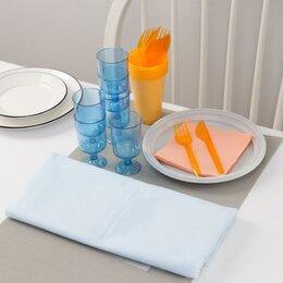 Наборы для пикника - Набор одноразовой посуды Доляна «На природу», 6 персон, скатерть, тарелки, ст..., 0