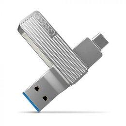 Карты памяти - Флеш накопитель Jesistech M1 USB - Type-C 128Gb - серебристый, 0