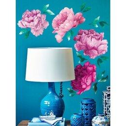Интерьерные наклейки - Наклейка декоративная Декоретто Акварельные розовые бутоны пионов FO 6004, 0