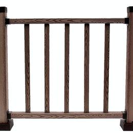 Заборчики, сетки и бордюрные ленты - Ограждение из ДПК Holzhof WoodStyle 1х1, 0