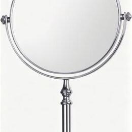Тумбы - LEDEME Зеркало для ванной круглое на ножке увеличительное настольное, диаметр..., 0