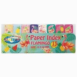 Средства для интимной гигиены - Закладки клейкие CENTRUM «Flamingo» бумажные, 50x15 мм, 8 цветов х 15 листов, 80, 0