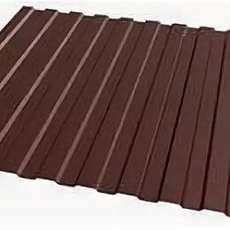 Кровля и водосток - Профнастил НС-10  шоколад 0,5мм*1,125* 6м, 0