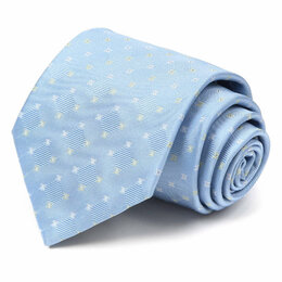 Галстуки и бабочки - Голубой галстук с фактурной клеткой Celine 63639, 0