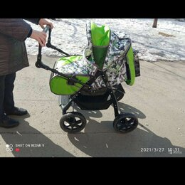 Коляски - Детская коляска трансформер мила зелёная, 0