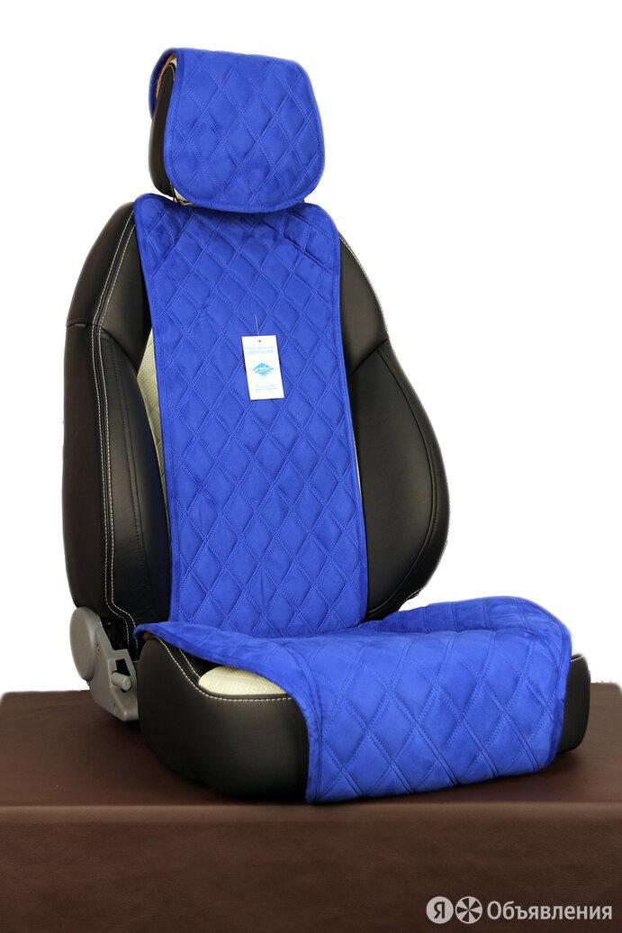 """Накидки из алькантары на передние сиденья """"TURBO"""" синий по цене 3400₽ - Аксессуары для салона, фото 0"""