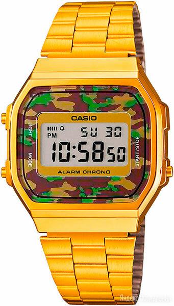 Наручные часы Casio A-168WEGC-3E по цене 4890₽ - Наручные часы, фото 0