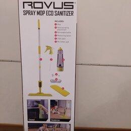 Швабры и насадки - Швабра с контейнером для воды на ручке зеленая ROVUS, 0