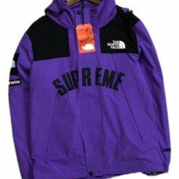 Куртки - Supreme the north face arc logo mountain parka purple, 0