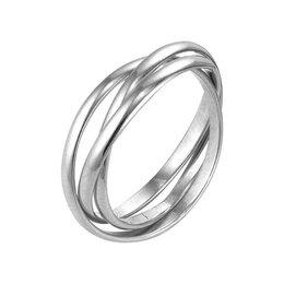 """Свадебные украшения - Кольцо """"Три нити"""", посеребрение, 18 размер, 0"""