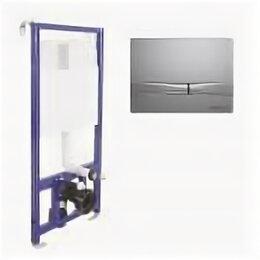 Комплектующие - Система инсталляции BERGES для скрытого монтажа унитаза NOVUM кнопка F2, матовый, 0