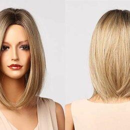 Аксессуары для волос - Парик средней длины Блонд Омбре, 0