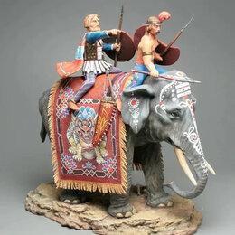 Фигурки и наборы - Карфагенский боевой слон оловянная миниатюра, 0