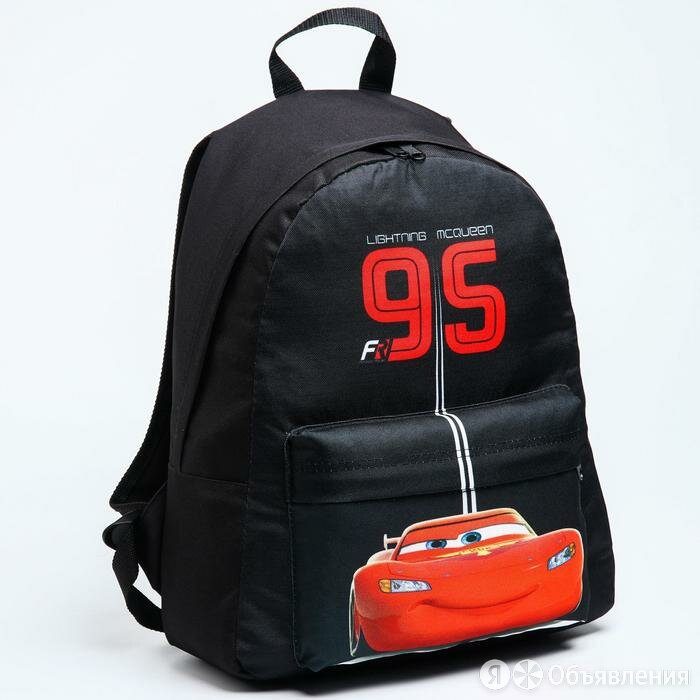 Рюкзак молод Тачки, 33*13*37, отд на молнии, н/карман, черный по цене 1691₽ - Рюкзаки, ранцы, сумки, фото 0
