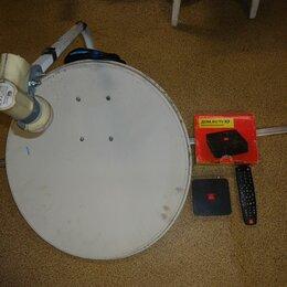 Спутниковое телевидение - спутниковая тарелка GI-121 + kaon 1620 тв приставка, 0