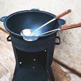 Печи для казанов - Чугунный казан с крышкой +печь+шумовка в подарок, 0