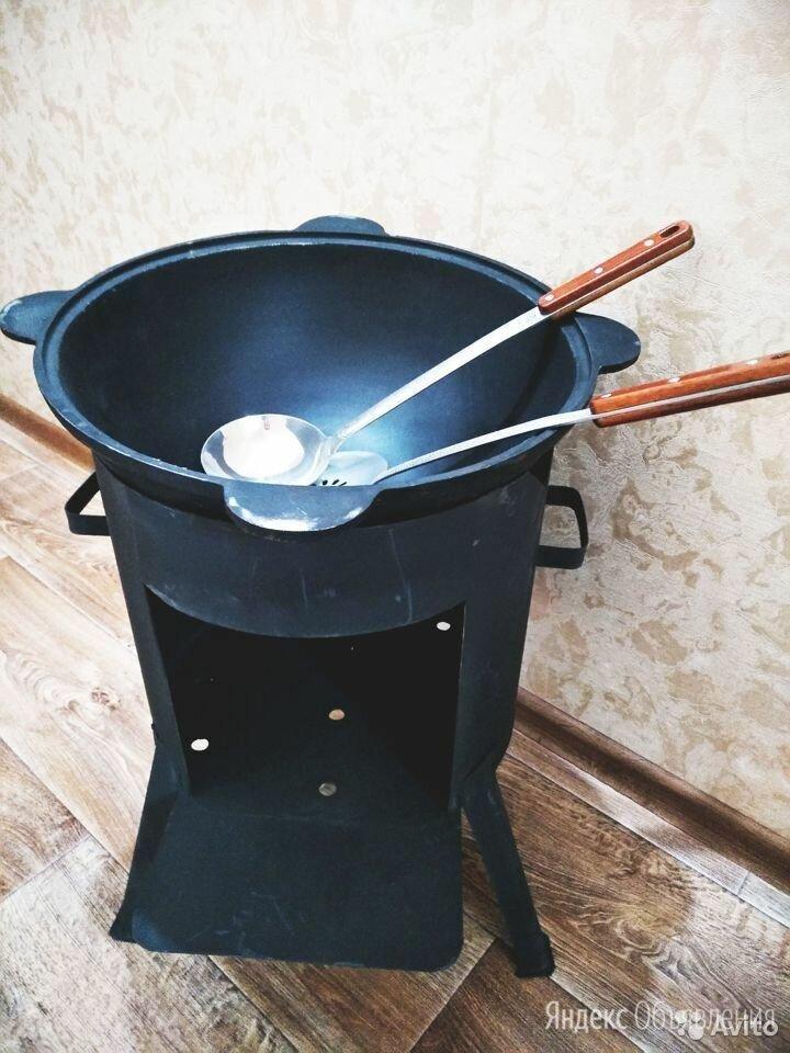 Чугунный казан с крышкой +печь+шумовка в подарок по цене 4990₽ - Печи для казанов, фото 0