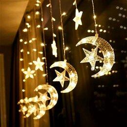 Наука и образование - Гирлянда LED бахрома, 3м,  Луна + звёзды, цвет белый, 0