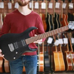 Электрогитары и бас-гитары - Электрогитара Cort X100-OPBK черная, 0