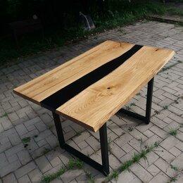 Столы и столики - Стол Лофт из массива дуба и смолы., 0
