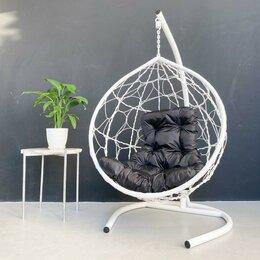 Подвесные кресла - Кресло подвесное из эко-ротанга Стандарт, цвет белый (подушка трапеция оксфор..., 0