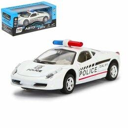 Модели - Машина «Полиция», инерционная, свет и звук, 0