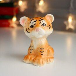 "Копилки - Копилка керамика ""Рыжий тигрёнок"" 11х8х8,3 см, 0"