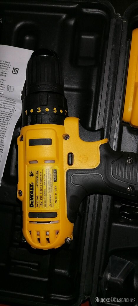 Шуруповерт-дрель аккумуляторный dewalt 18v по цене 4000₽ - Шуруповерты, фото 0