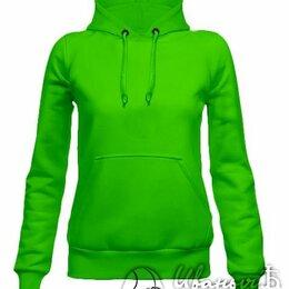 Толстовки - Худи с капюшоном женское зеленое , 0