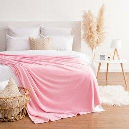 Пледы и покрывала - Плед Этель 200*220 см, цв. розовый, 100 п/э, корал-флис , 220 гр/м2, 0