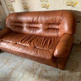 Диваны и кушетки - Кожаный диван  1800х800, 0