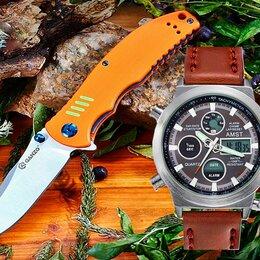 Аксессуары и комплектующие - Нож GANZO FireBird + Часы AMST 3003, 0