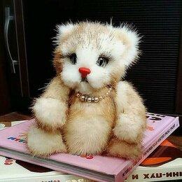 Мягкие игрушки - Мягкая игрушка из натурального меха норки. Котенок., 0