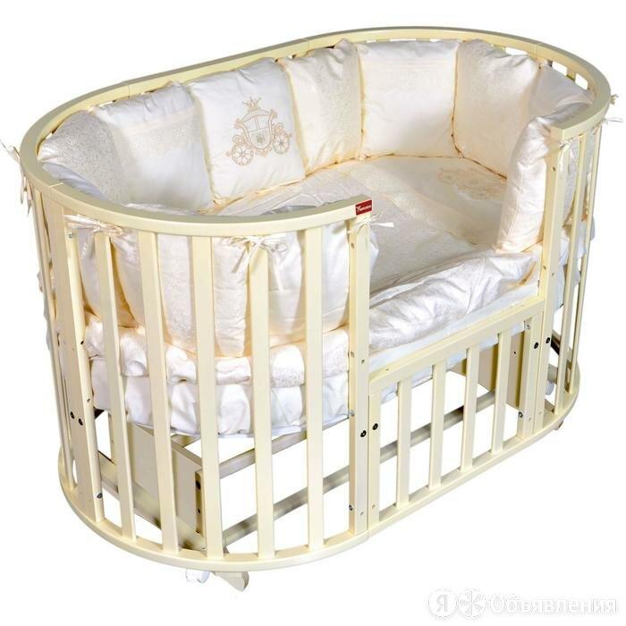 Кроватка Gracia 6 в 1, универсальный маятник, колесо, цвет слоновая кость по цене 14952₽ - Кроватки, фото 0