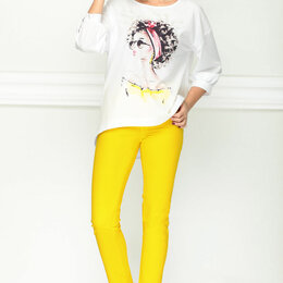 Костюмы - Костюм 21184 LENATA желтый Модель: 21184, 0