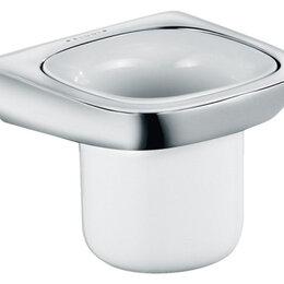 Мыльницы, стаканы и дозаторы - KLUDI Стакан подвесной керамический KLUDI Ambienta  цвет - хром/белый 5397505, 0