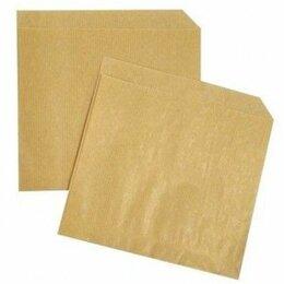 Пакеты - Пакет бумажный уголок, крафт, 150х170мм., 0