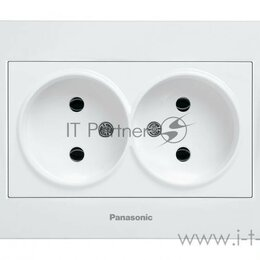 Электроустановочные изделия - Розетка силовая Panasonic Karre Plus (wktc02042wh-ru) скрыт. Ip20 белый (упак..., 0